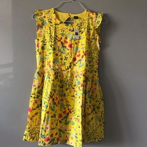 Gap kids 12 Plus yellow summer dress nwt floral